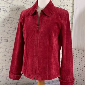 Coldwater Creek, 100% Leather Suede, Jacket, L